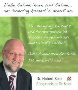 Dr. Hubert Seier, Bürgermeister für Selm