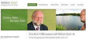 Homepage Hubert Seier online