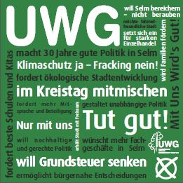 Plakat UWG