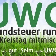 Plakat UWG Grundsteuer runter