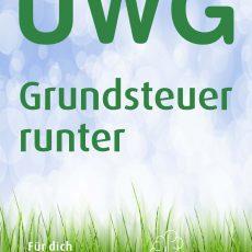 Plakat UWG - Grundsteuer runter