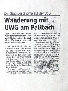 Paßbachwanderung: Westfälische Rundschau vom 24.09.1997
