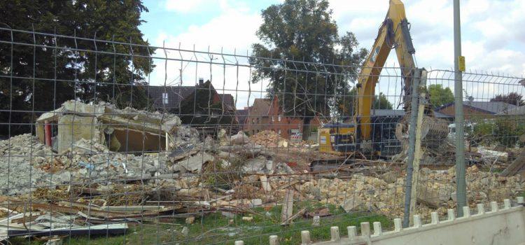 Abriss der Lutherschule in Selm