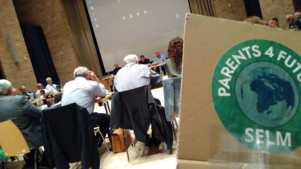 Ratsstizung zum Thema Klimanotstand