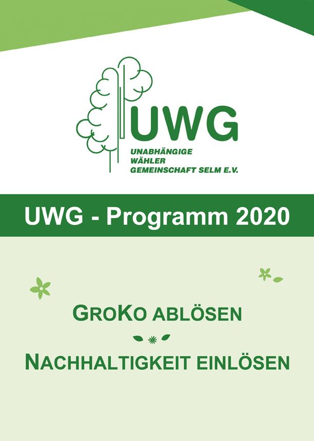 UWG Wahlprogramm 2020